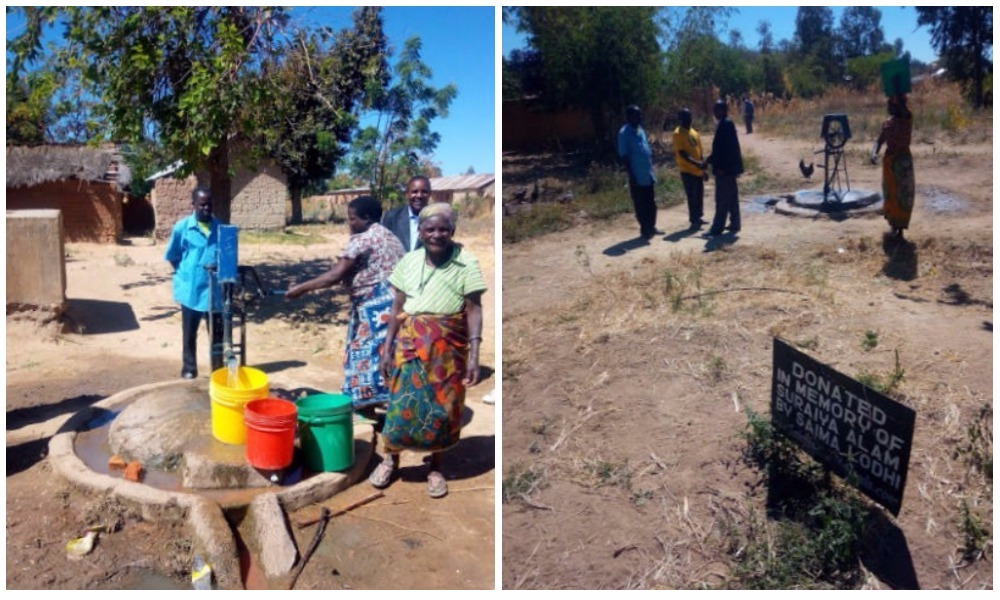 The village enjoys their new well